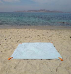 The Beach Towel Clip on a beach