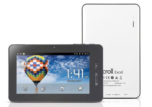 Scroll Excel Tablet