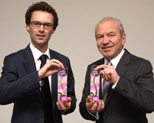 Stylfile's Tom Pellereau with Lord Sugar