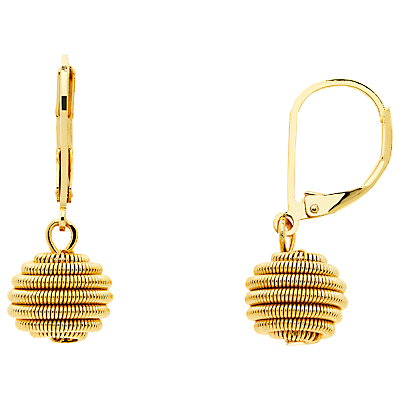 Monet Spiral Ball Hook Drop Earrings